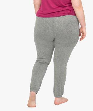 Bas de pyjama femme fluide avec chevilles élastiquées vue3 - GEMO(HOMWR FEM) - GEMO