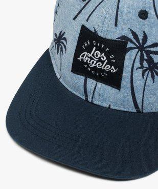 Casquette garçon chambray à imprimé palmiers vue2 - Nikesneakers (JUNIOR) - Nikesneakers