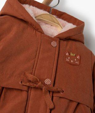 Manteau bébé fille à capuche 3 en 1 vue2 - GEMO(BEBE DEBT) - GEMO