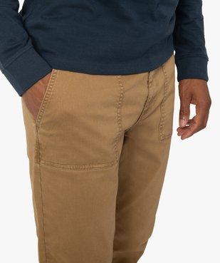 Pantalon homme en toile avec taille élastiquée vue2 - Nikesneakers (HOMME) - Nikesneakers