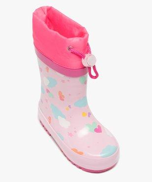 Bottes de pluie bébé fille imprimées à col étanche vue5 - GEMO(BEBE DEBT) - GEMO