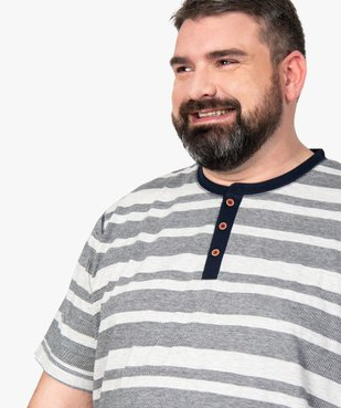Pyjashort homme avec haut rayé vue2 - Nikesneakers(HOMWR HOM) - Nikesneakers