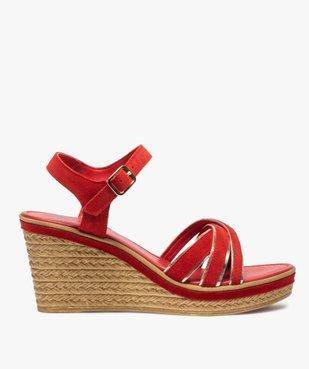 Sandales femme à talon compensé et détails métallisés vue1 - GEMO(URBAIN) - GEMO