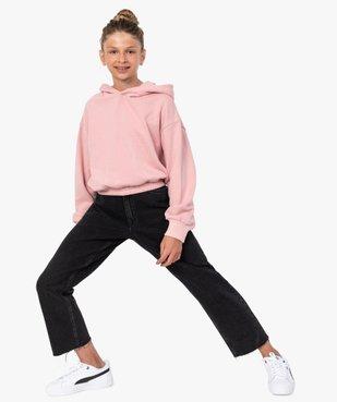 Sweat fille court et ample à capuche vue5 - GEMO (JUNIOR) - GEMO