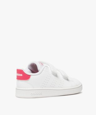 Baskets fille unies à scratch – Adidas vue4 - ADIDAS - Nikesneakers