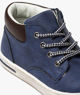 Boots garçon à col contrastant fermeture lacets et zip  vue6 - GEMO (ENFANT) - GEMO