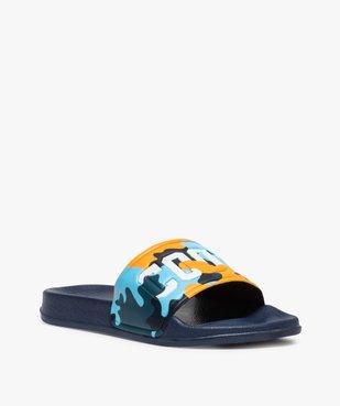 Mules de piscine garçon à bandeau camo « Cool » vue2 - Nikesneakers (ENFANT) - Nikesneakers