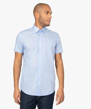 Chemise rayée à manches courtes coupe Regular vue1 - GEMO (HOMME) - GEMO