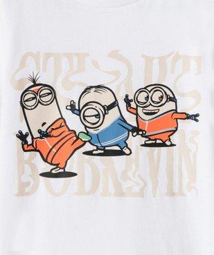 Tee-shirt garçon imprimé à manches courtes - Les Minions 100% coton biologique vue2 - NBCUNIVERSAL - GEMO