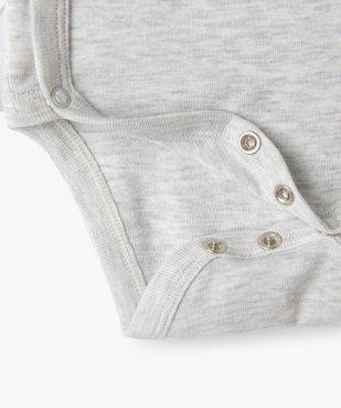 Body bébé manches longues fermeture croisée (lot de 5) vue3 - GEMO C4G BEBE - GEMO