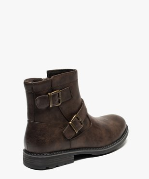 Boots homme à boucles décoratives et doublure chaude vue4 - GEMO (CASUAL) - GEMO