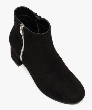 Boots femme à petit talon avec zip décoratif sur le côté vue5 - GEMO(URBAIN) - GEMO