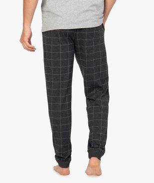 Pantalon de pyjama homme en jersey à taille élastique vue3 - GEMO(HOMWR HOM) - GEMO