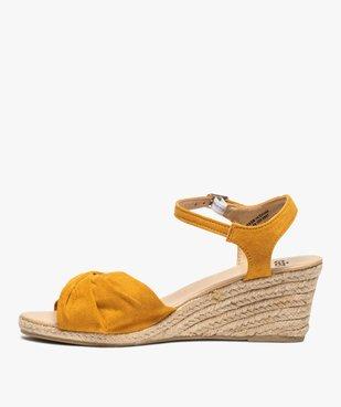 Sandales femme à talon compensé en corde vue3 - GEMO(URBAIN) - GEMO