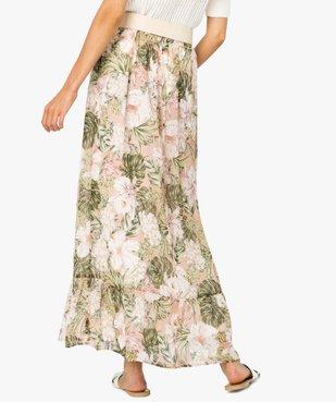 Jupe femme longue à motif tropical vue3 - Nikesneakers(FEMME PAP) - Nikesneakers