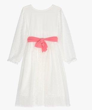 Robe fille en tulle, voile et plumetis vue1 - GEMO (ENFANT) - GEMO