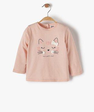 Tee-shirt bébé fille avec motif chat vue1 - Nikesneakers C4G BEBE - Nikesneakers