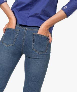 Pantacourt femme en jean extensible vue2 - GEMO C4G FEMME - GEMO