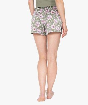 Bas de pyjama femme forme short à motifs fleuris vue3 - GEMO(HOMWR FEM) - GEMO