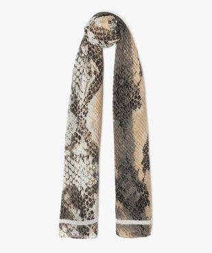 Foulard femme plissé à motif animalier vue1 - GEMO (ACCESS) - GEMO