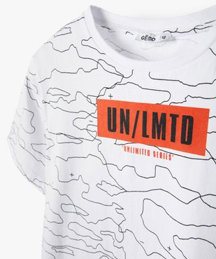 Tee-shirt garçon bicolore à manches courtes vue2 - GEMO (JUNIOR) - GEMO