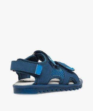 Sandales garçon à scratchs et semelle intérieure cuir vue4 - Nikesneakers (ENFANT) - Nikesneakers