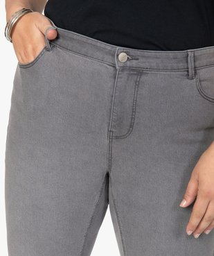 Jean femme extensible coupe Slim vue2 - GEMO (G TAILLE) - GEMO