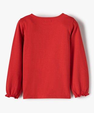 Tee-shirt fille avec motif et sequins brodés – Lulu Castagnette vue4 - LULUCASTAGNETTE - GEMO