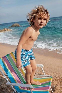 Short de bain garçon avec motifs palmiers vue6 - GEMO (ENFANT) - GEMO