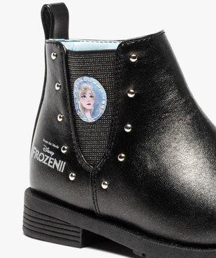 Boots fille zippés détails cloutés – La Reine des Neiges vue6 - REINE DES NEIGE - GEMO