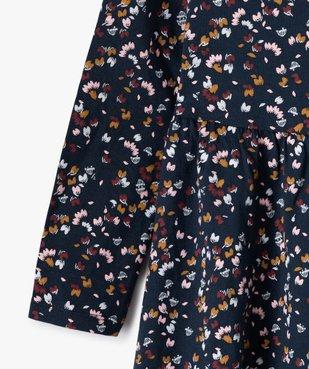 Robe fille à manches longues en maille à motifs fleuris vue2 - GEMO C4G FILLE - GEMO