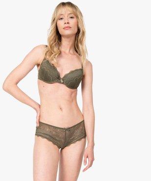 Soutien-gorge femme forme corbeille à armatures vue3 - GEMO(HOMWR FEM) - GEMO
