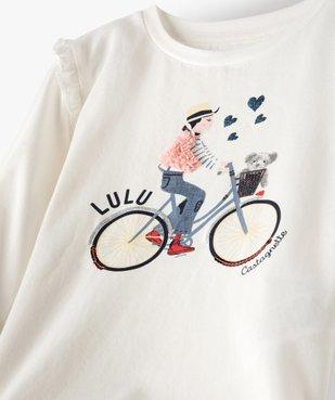 Tee-shirt fille avec motifs multimatières – Lulu Castagnette vue2 - LULUCASTAGNETTE - GEMO