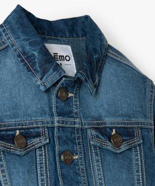 Veste garçon en jean légèrement délavée vue2 - Nikesneakers (ENFANT) - Nikesneakers