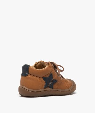 Chaussures premiers pas à lacets bébé garçon - Bopy vue4 - BOPY - GEMO