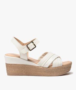 Sandales femme à talon compensé coupe spéciale pied large vue1 - GEMO(URBAIN) - GEMO