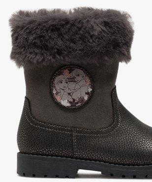 Boots fille zippés à col rembourré – La Reine des Neige vue6 - REINE DES NEIGE - GEMO