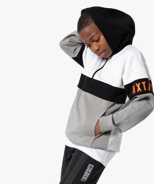 Sweat garçon molletonné à capuche et col zippé vue1 - Nikesneakers (ENFANT) - Nikesneakers