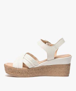 Sandales femme à talon compensé coupe spéciale pied large vue3 - GEMO(URBAIN) - GEMO
