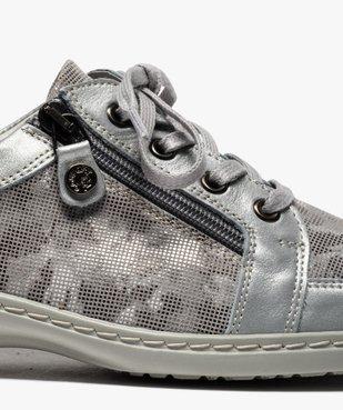 Derbies femme confort à lacets et zip dessus cuir vue6 - GEMO (CASUAL) - GEMO