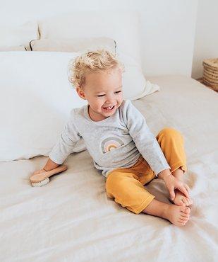 Pyjama bébé fille 2 pièces en velours à imprimé pailleté vue1 - GEMO(BB COUCHE) - GEMO