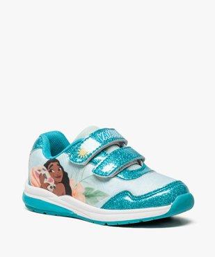 Baskets fille avec motif Vaiana et semelle lumineuse - Disney vue2 - VAIANA - GEMO