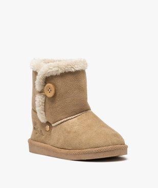 Boots fille en suédine à col fourré – LuluCastagnette vue2 - LULU CASTAGNETT - Nikesneakers