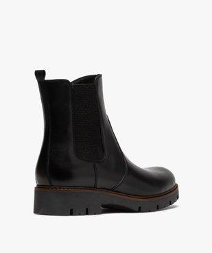 Boots fille style chelsea dessus cuir à semelle crantée vue4 - GEMO (ENFANT) - GEMO