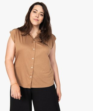 Tee-shirt femme boutonné sur l'avant vue2 - Nikesneakers (G TAILLE) - Nikesneakers