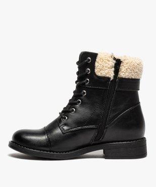 Boots fille à col rembourré fermeture lacets et zip vue3 - GEMO (ENFANT) - GEMO