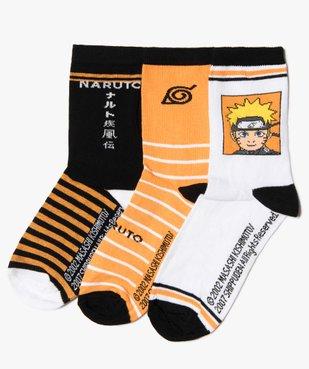 Chaussettes garçon à motifs (lot de 3) – Naruto Shipuden vue1 - NARUTO - GEMO