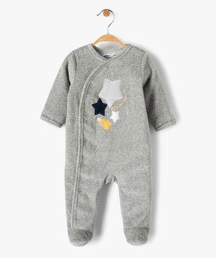 Pyjama bébé garçon avec motifs étoiles et fusée vue1 - GEMO(BB COUCHE) - GEMO