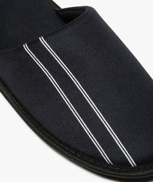 Chaussons homme forme mules velours avec liserés vue6 - Nikesneakers(HOMWR HOM) - Nikesneakers