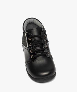 Chaussures premiers pas bébé fille en cuir détails brillants vue5 - Nikesneakers(BEBE DEBT) - Nikesneakers